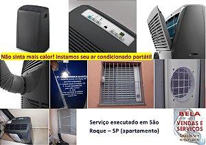 Instalação de Ar Condicionado Portátil. Pare de sofrer com este calor.