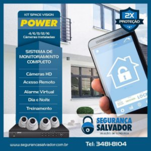 Sistema Space Vision POWER, 04 Ambientes, Apartamento - Loja - Casa