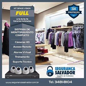Sistema Space Vision FULL, 04 ambientes FULL HD para Lojas, casa ou AP.