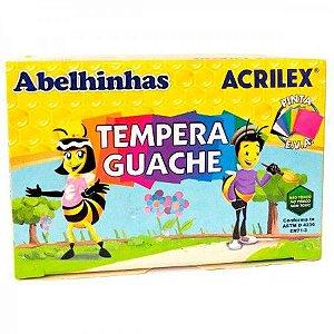 Tempera Guache 6 Cores Abelhinhas Acrilex