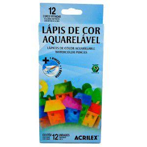 Lápis de Cor Aquarelável 12 Cores Acrilex