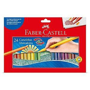 Canetas Hidrográficas 24 Cores Faber Castell