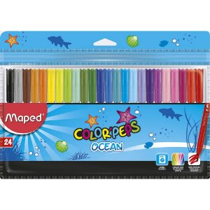 Canetas Hidrográficas Color Peps Ocean 24 cores Maped