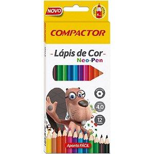 Lápis de Cor 12 Cores Compactor