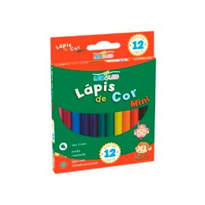 Mini Lápis de Cor 12 Cores LeoLeo