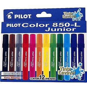 Canetas Hidrográficas Pilot Color 850-L Júnior 12 Cores