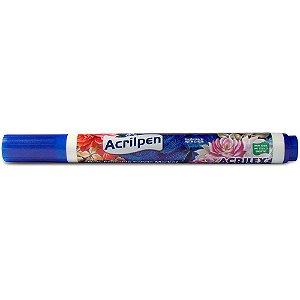 Caneta para Tecido Acrilpen Azul Turqueza Acrilex