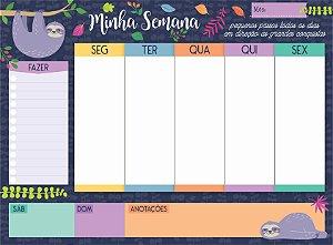 """Planner Semanal em Bloco """"Minha Semana Peguiça"""""""