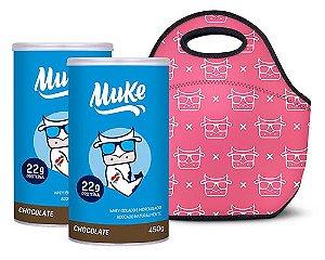 Compre 2 Potes Muke Chocolate + 5 reais e leve 1 Bolsinha Outubro Rosa