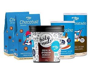 Combo 2 Chocoball, Cappuccino, Achocolatado e Creme de Amendoim Crunchy
