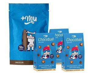 1 Refil Mais Mu Tradicional - Chocolate + 3 Chocoballs