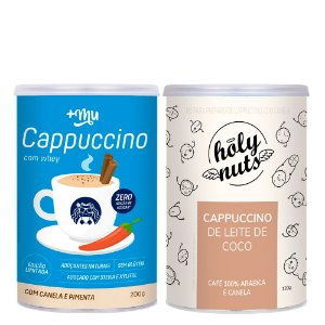 1 Cappuccino +Mu 200g e 1 Cappuccino Holy Nuts