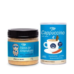 Combo Pasta  de Amendoim Crunchy  + Mu - Chocolate Branco 450g  + CAPPUCCINO +MU (COM WHEY, CANELA E PIMENTA) - 200G