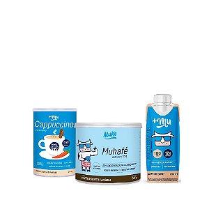 Compre 1 Cappuccino +Mu + 1 Mukafé Muke e Ganhe o Lançamento +Mu Pronto sabor Cappuccino