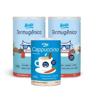 Termugênico Muke (2 Potes) 105g + 1 Cappuccino +Mu (200g) | Combos Blue Friday