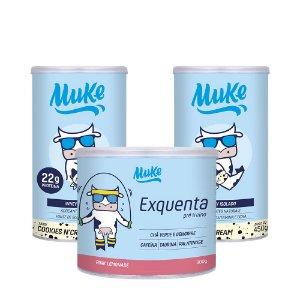Whey Muke Cookies'n Cream (2 Potes) 450g + 1 Exquenta Muke (300g) | Combos Blue Friday