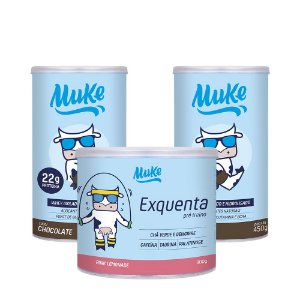 Whey Muke Chocolate (2 Potes) 450g + 1 Exquenta Muke (300g) | Combos Blue Friday