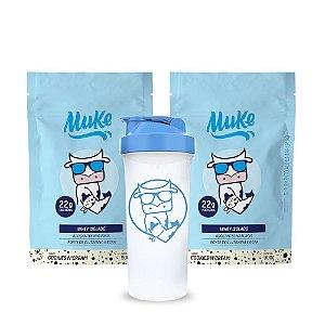 Whey Muke Cookies'n Cream (2 Refis) 900g + GANHA Coqueteleira Muke (600ml) | Combos Blue Friday