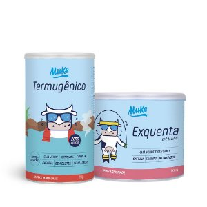 Compre 1 Pote de Exquenta Muke (300g) + Leve 1 Pote de Termugênico Muke (105g) com 50% OFF