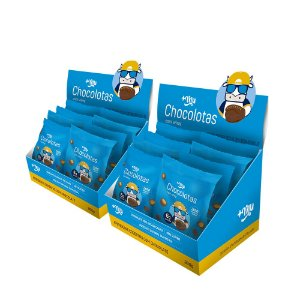 Chocolotas +Mu Amendoim (Caixa - 12 Pacotinhos) 720g | +Mu Snacks