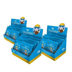 Chocolotas +Mu Amendoim (3 Caixas - 36 Pacotinhos) 360g | +Mu Snacks