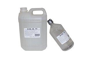 Combo  Álcool Gel 70% 1 Litro + Galão de 5 L - Dermagel