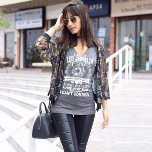 Blusa Choker Led Zeppelin