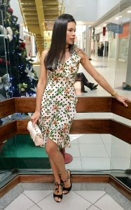 Vestido poá floral