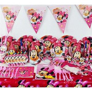 Kit para Aniversários Minnie 14 Peças x 10 unidades