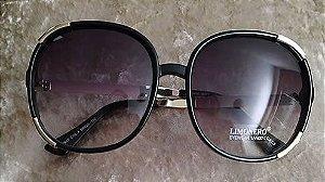Oculos de Sol Redondo Dourado