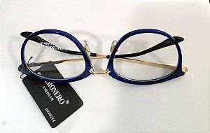 Armação  Oculos de Grau Azul  0020