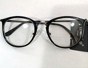 Armação Oculos de Grau Preto 0021