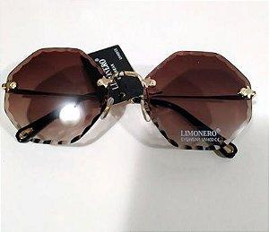 Oculos de Sol Flat Marrom 0057