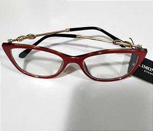 Armação Oculos de Grau vermelho 0059