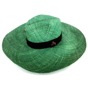 Chapéu de Palha Natural Aba Gigante Verde