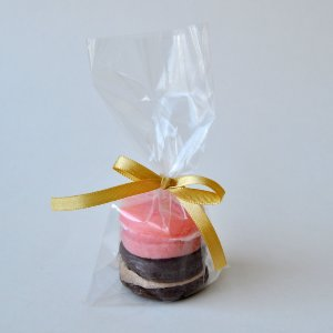 Sabonete Macaron Lembrancinha - embalagem plástica - 10 unidades