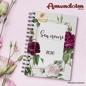 Agenda Personalizada Floral Roxa