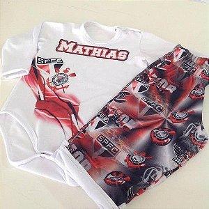 Pijama Curto Personalizado São Paulo Masculino
