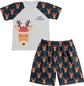Pijama Natal Personalizado Rena