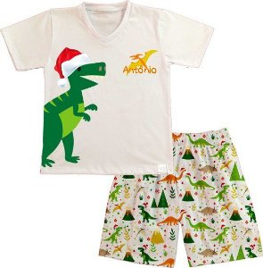 Pijama Natal Personalizado Dinossauro