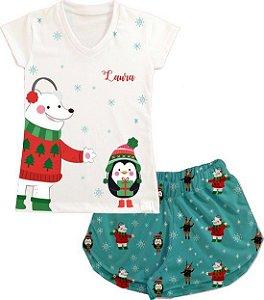 Pijama Natal Personalizado Urso