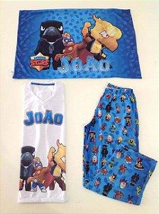 Pijama Personalizado Curto Brawl Stars