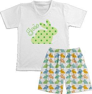 Pijama Coelho Poá Longo