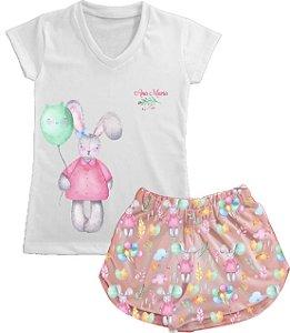 Pijama Páscoa Balão Curto