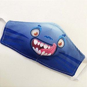Máscara Monstrinho Azul