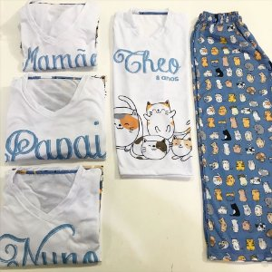 Pijama Personalizado Gatinho