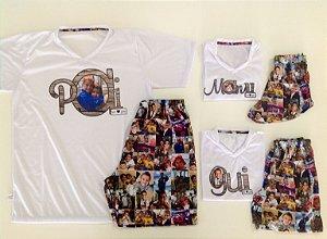 Pijama de Fotos Blusa Escrita