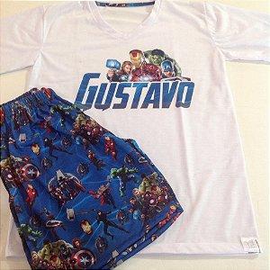 Pijama Personalizado Heróis 1