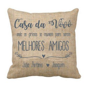 Almofada Personalizada Casa da Vovó