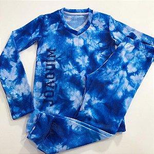 Pijama Tie Dye Azul Personalizado